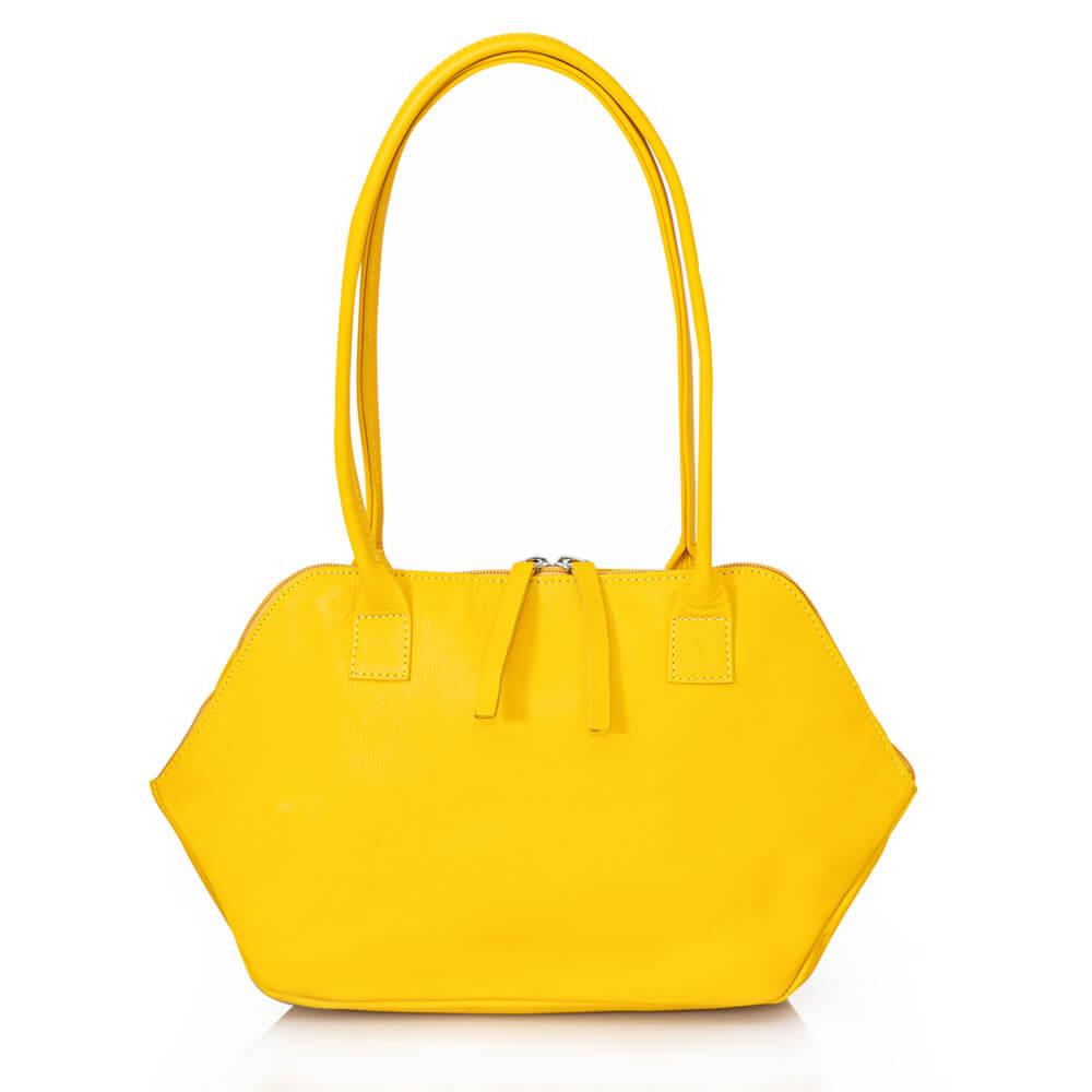 צילום מוצר תיק צד צהוב